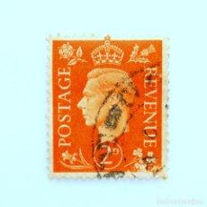 Sellos: SELLO POSTAL GRAN BRETAÑA REINO UNIDO 1940, 1 D, REY GEORGE VI ,USADO. Lote 236819575