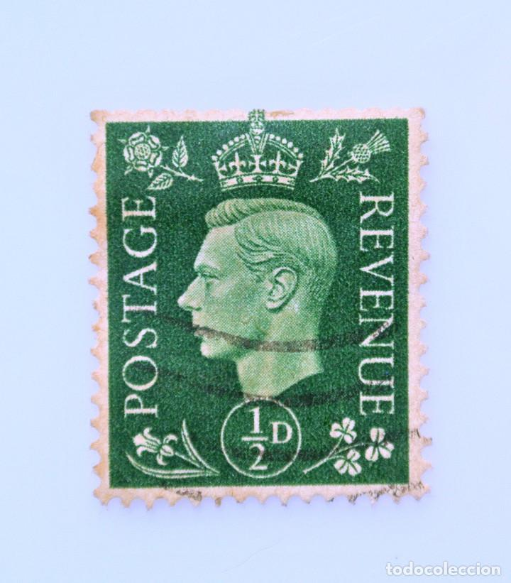 SELLO POSTAL GRAN BRETAÑA REINO UNIDO 1941, 1/2 D, REY GEORGE VI ,USADO (Sellos - Extranjero - Europa - Gran Bretaña)