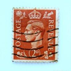 Sellos: SELLO POSTAL GRAN BRETAÑA REINO UNIDO 1951, 2 D, REY GEORGE VI ,USADO. Lote 236822620