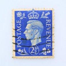 Sellos: SELLO POSTAL GRAN BRETAÑA REINO UNIDO 1937, 2 1/2 D, REY GEORGE VI ,USADO. Lote 236823495