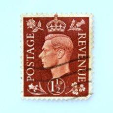 Sellos: SELLO POSTAL GRAN BRETAÑA REINO UNIDO 1937, 1 1/2 D, REY GEORGE VI ,USADO. Lote 236824180