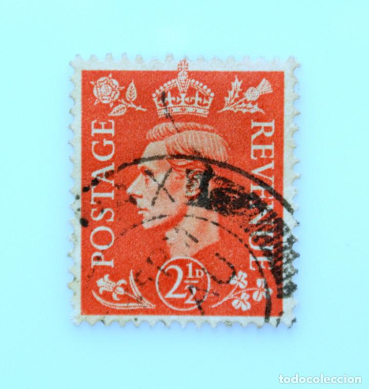 SELLO POSTAL GRAN BRETAÑA REINO UNIDO 1951, 2 1/2 D, REY GEORGE VI ,USADO (Sellos - Extranjero - Europa - Gran Bretaña)