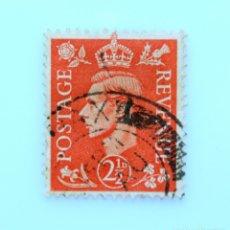 Sellos: SELLO POSTAL GRAN BRETAÑA REINO UNIDO 1951, 2 1/2 D, REY GEORGE VI ,USADO. Lote 236825665