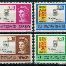 Sellos: JERSEY 1969 IVERT 1/4 *** INAUGURACIÓN DEL SERVICIO POSTAL. Lote 239443595