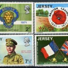 Sellos: JERSEY 1971 IVERT 47/50 *** 50º ANIVERSARIO DE LA LEGIÓN BRITÁNICA. Lote 239444240