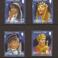 Sellos: JERSEY 2000 IVERT 956/9 *** NAVIDAD - NIÑOS Y ESCENAS DE NAVIDAD. Lote 239668855