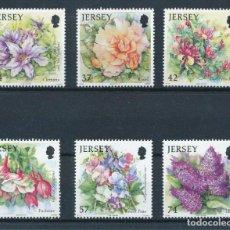 Sellos: JERSEY 2007 IVERT 1346/51 *** FLORA - FLORES DE VERANO. Lote 239669855