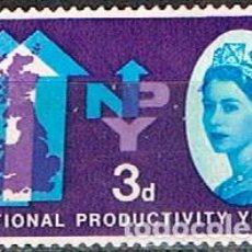 Sellos: GRAN BRETAÑA IVERT Nº 368, AÑO NACIONAL DE LA PRODUCTIVIDAD, NUEVO ***. Lote 240888930