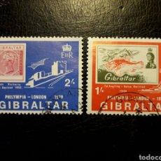 Sellos: GIBRALTAR (GRAN BRETAÑA) YVERT 236/7 SERIE COMPLETA USADA 1970 SELLOS SOBRE SELLOS PEDIDO MÍNIMO 3 €. Lote 243856895