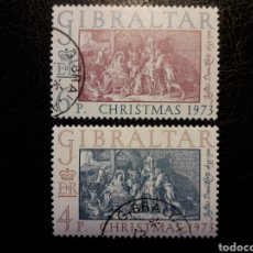 Sellos: GIBRALTAR (GRAN BRETAÑA) YVERT 301/02 SERIE COMPLETA USADA 1973. NAVIDAD. PEDIDO MÍNIMO 3 €. Lote 243859365