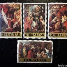 Sellos: GIBRALTAR (GRAN BRETAÑA) YV 367/70 SERIE CTA USADA 1977 NAVIDAD RUBENS PINTURAS. PEDIDO MÍNIMO 3 €. Lote 243860085