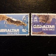 Sellos: GIBRALTAR (GRAN BRETAÑA) YV 371 + SH HB-5 SERIE COMPLETA USADA 1978 FOTO SATÉLITE. PEDIDO MÍNIMO 3 €. Lote 243861030