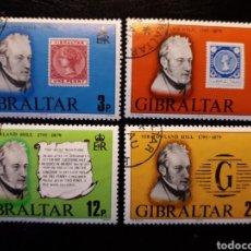 Sellos: GIBRALTAR (GRAN BRETAÑA) YVERT 389/92 SERIE COMPLETA USADA 1979 SIR ROWLAND HILL. PEDIDO MÍNIMO 3 €. Lote 243861675