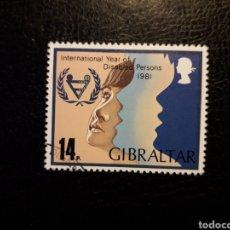 Sellos: GIBRALTAR (GRAN BRETAÑA) YV 436 SERIE CTA USADA 1981 AÑO PERSONAS DISCAPACITADAS. PEDIDO MÍNIMO 3 €. Lote 243863630