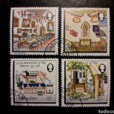 Sellos: GIBRALTAR (GRAN BRETAÑA) YVERT 425/8 SERIE CTA USADA 1981 RESIDENCIA GOBERNADOR. PEDIDO MÍNIMO 3 €. Lote 243864185