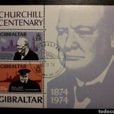 Sellos: GIBRALTAR GRAN BRETAÑA Y HB-1 SERIE CTA USADA 1974 CHURCHILL SEGUNDA GUERRA MUNDIAL PEDIDO MÍNIMO 3€. Lote 243867325