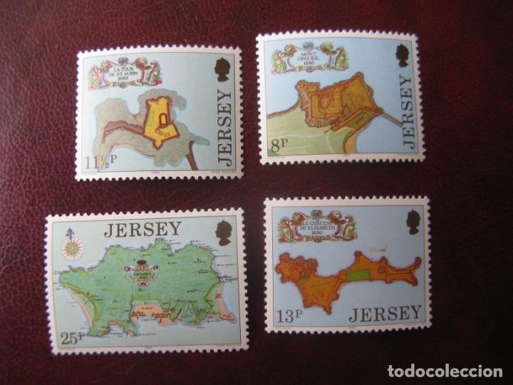 +JERSEY, 1980, 300 ANIV. DE LAS FORTALEZAS DE JERSEY, YVERT 206/09 (Sellos - Extranjero - Europa - Gran Bretaña)