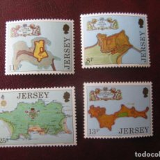 Sellos: +JERSEY, 1980, 300 ANIV. DE LAS FORTALEZAS DE JERSEY, YVERT 206/09. Lote 244488260