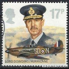 Francobolli: GRAN BRETAÑA 1986 - 50º ANIV. DE LA ROYAL AIR FORCE, LORD DOWDING, 1882-1970 - USADO. Lote 244684840