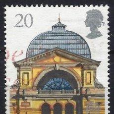 Sellos: GRAN BRETAÑA 1990 - GLASGOW, CAPITAL CULTURAL EUROPEA, PALACIO DE ALEXANDRA - USADO. Lote 244738175