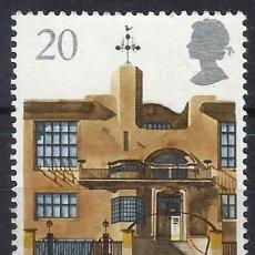 Sellos: GRAN BRETAÑA 1990 - GLASGOW, CAPITAL CULTURAL EUROPEA, ESCUELA DE ARTE - USADO. Lote 244738340