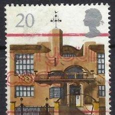 Sellos: GRAN BRETAÑA 1990 - GLASGOW, CAPITAL CULTURAL EUROPEA, ESCUELA DE ARTE - USADO. Lote 244738405