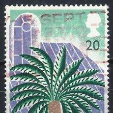 Sellos: GRAN BRETAÑA 1990 - 150º ANIV. DE LOS JARDINES DE KEW, PALMERA - USADO. Lote 244739015