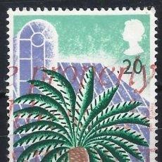 Sellos: GRAN BRETAÑA 1990 - 150º ANIV. DE LOS JARDINES DE KEW, PALMERA - USADO. Lote 244739060
