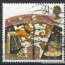 Sellos: GRAN BRETAÑA 1990 - ASTRONOMÍA, ANTIGUO OBSERVATORIO DE GREENWICH - USADO. Lote 244740280