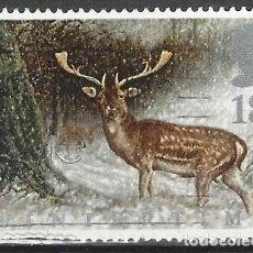 Selos: GRAN BRETAÑA 1992 - FAUNA DE INVIERNO, CIERVO, DAMA DAMA - USADO. Lote 244817105