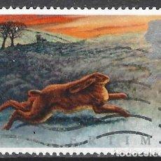 Selos: GRAN BRETAÑA 1992 - FAUNA DE INVIERNO, LIEBRE - USADO. Lote 244817630
