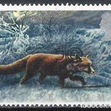 Selos: GRAN BRETAÑA 1992 - FAUNA DE INVIERNO, ZORRO - USADO. Lote 244817730