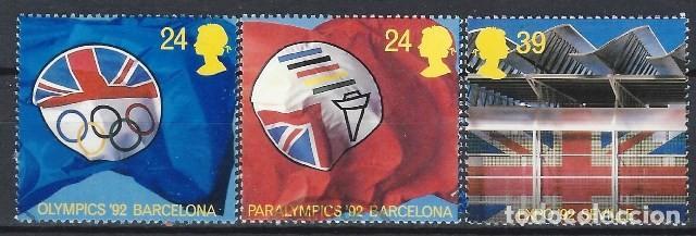 GRAN BRETAÑA 1992 - JJOO DE BARCELONA, S.COMPLETA - USADOS (Sellos - Extranjero - Europa - Gran Bretaña)