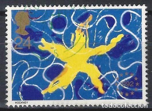 GRAN BRETAÑA 1992 - PUESTA EN VIGOR DEL MERCADO ÚNICO EUROPEO - USADO (Sellos - Extranjero - Europa - Gran Bretaña)