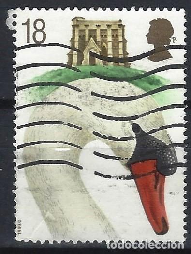GRAN BRETAÑA 1993 - 6º CENT. DE LA CRIANZA DE CISNES DE ABBOTSBURY, CISNE Y CAPILLA DE STA.CATALINA (Sellos - Extranjero - Europa - Gran Bretaña)