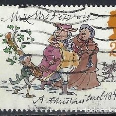 """Selos: GRAN BRETAÑA 1993 - NAVIDAD, 150º ANIV. DE """"CUENTO DE NAVIDAD DE DICKENS"""", MR. Y MRS. FEZZIWIG - USA. Lote 244834955"""