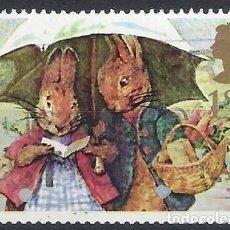 Selos: GRAN BRETAÑA 1993 - SALUDOS, PETER RABBIT Y MRS RABBIT - USADOS. Lote 244838420