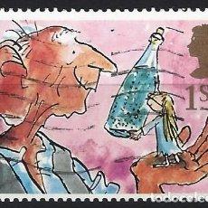 Selos: GRAN BRETAÑA 1993 - SALUDOS, EL GIGANTE AMISTOSO Y SOFÍA - USADOS. Lote 244838620