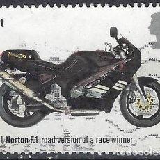 Sellos: GRAN BRETAÑA 2005 - MOTOCICLETAS, NORTON F-1 1991 - USADO. Lote 245180125