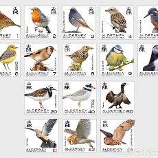 Sellos: ALDERNEY 2020 - DEFINITIVES - ALDERNEY BIRDS STAMP SET MNH. Lote 245262480