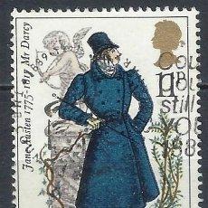 Selos: GRAN BRETAÑA 1975 - 2º CENT.DEL NACIMIENTO DE JANE AUSTEN, ORGULLO Y PREJUICIO - USADO. Lote 247040475