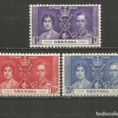 Timbres: GRENADA COLONIA BRITANICA YVERT NUM. 119/121 SERIE COMPLETA NUEVA SIN GOMA. Lote 247181090