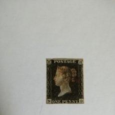 Sellos: PERFIL DE LA REINA VICTORIA - ONE PENNY BLACK - N-D -MATASELLADO EN ROJO- PRIMER SELLO DATA DE 1840.. Lote 251211760