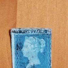 Sellos: PERFIL DE LA REINA VICTORIA - TWO PENCE - T-I - AÑO 1840-1858. Lote 251393070