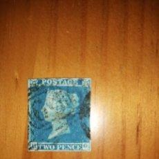 Sellos: PERFIL DE LA REINA VICTORIA - TWO PENCE - BLUE - H-G - AÑO 1840-1858.. Lote 251465585