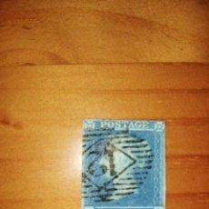 Sellos: PERFIL DE LA REINA VICTORIA - TWO PENCE - BLUE - O-L - AÑO 1840-1858.. Lote 251475520