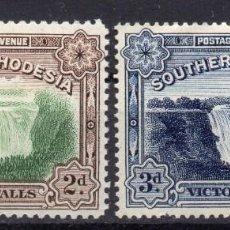 Sellos: SOUTHERN RHODESIA/1935-41/MNH/SC#37-37A/ CATARATAS VICTORIA / SET COMPLETE. Lote 252751270