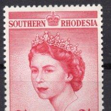 Sellos: SOUTHERN RHODESIA/1953/MH/SC#80/ EMISION DE CORONACION / REINA ELIZABETH II / QEII. Lote 252754880