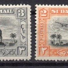 Francobolli: SUDAN/1931/MH/SC#C8, C10/ STATUE OF GEN. CHARLES GEORGE GORDON / AVIONES / CORREO AEREO. Lote 252755920