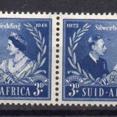 Timbres: SOUTH AFRICA/1948/MNH/SC#106/ 25º ANIV DEL CASAMIENTO DEL REY JORGE VI & REINA ELIZABETH / KGVI. Lote 252759245